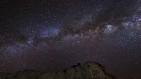 4k UHD stars and milky way over sandstones 11225 Footage