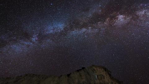 4k UHD stars and milky way over sandstones 11225 Stock Video Footage