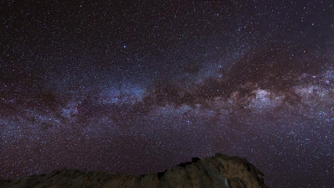 4k UHD stars and milky way over sandstones pan 112 Footage