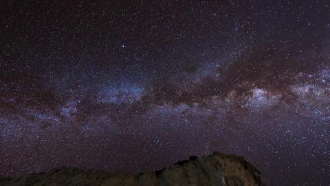 4k UHD stars and milky way over sandstones pan 112 Footage