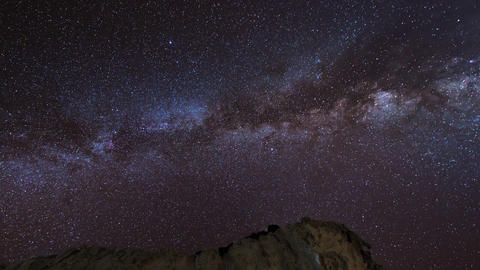 4k UHD stars and milky way over sandstones pan 112 Stock Video Footage