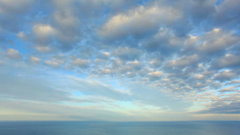 Cloudy sky over the sea (Time Lapse). FULL HD Stock Video Footage