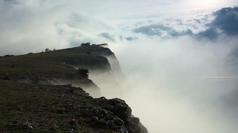 Movement of the clouds on the mountain Merdven-Kay Stock Video Footage