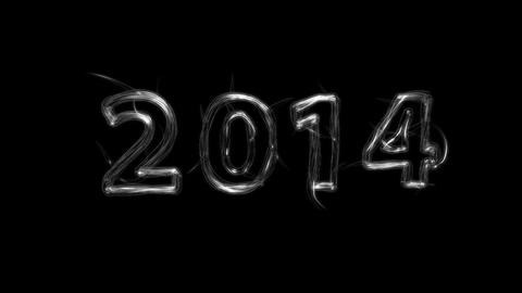 New Year 2014 Title with Alpha Stock Video Footage
