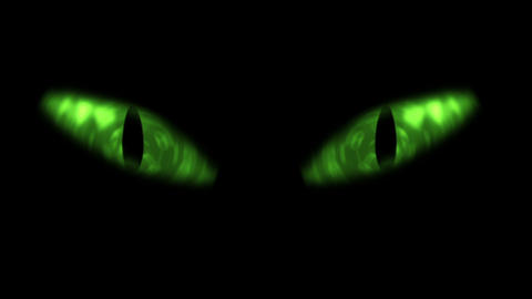 Animation of cat eyes blinking Stock Video Footage