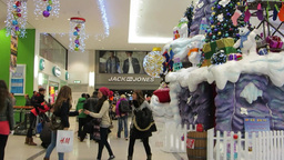 Shopping at Christmas 1 Stock Video Footage