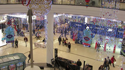 Shopping at Christmas 3 Stock Video Footage