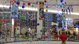 Shopping at Christmas 5 Stock Video Footage