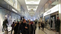 Shopping at Christmas 7 Stock Video Footage