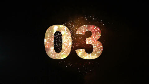 Fireworks countdown 01 Animation