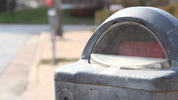 Expired Parking Meter stock footage