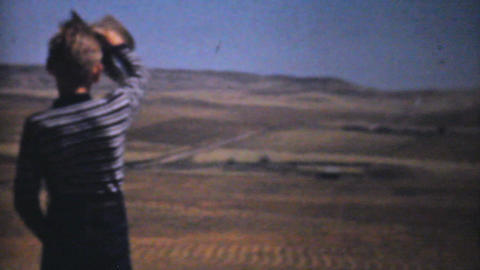Little Boy On His Farm 1940 Vintage 8mm film Stock Video Footage