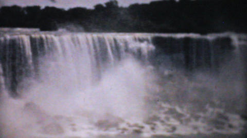 Majestic Niagara Falls 1940 Vintage 8mm film Stock Video Footage