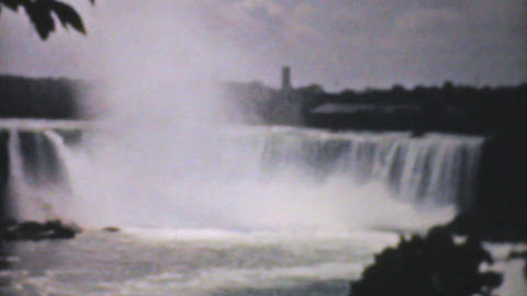 Majestic Niagara Falls 1940 Vintage 8mm Film stock footage