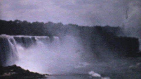 Majestic Niagara Falls 1940 Vintage 8mm film Stock Video Footage