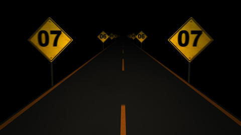 Road Signs Countdown 02 Animation