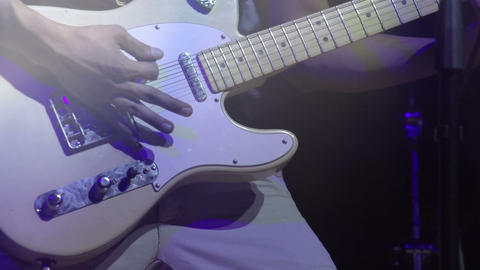 Man playing an Electric guitar HD Stock Video Footage