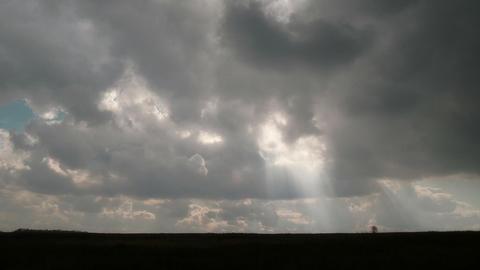 sunbeams are in skies Stock Video Footage