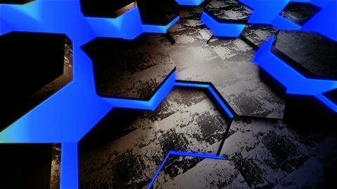 blue neon tile Animation