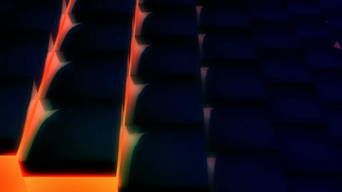 orange neon tile Stock Video Footage