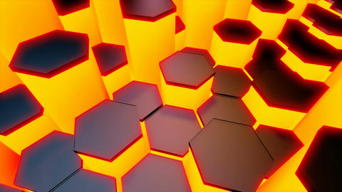 hexagonal tile lights Animation