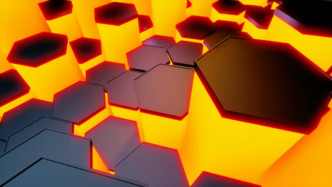 hexagonal tile lights Stock Video Footage