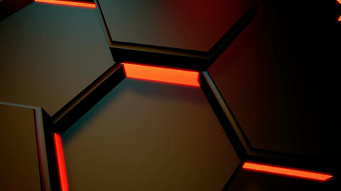 hexagonal lights motion Stock Video Footage