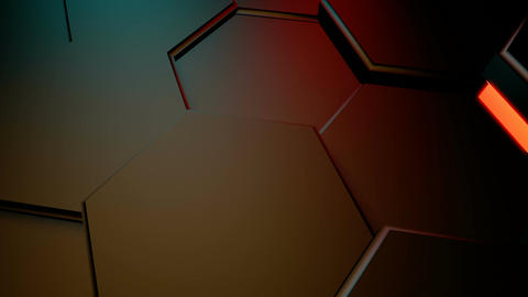 hexagonal lights motion Stock Video Footage