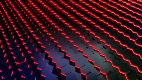 Hexagonal Tile Glowing stock footage