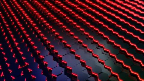 hexagonal tile glowing Stock Video Footage