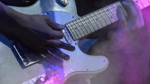 Guitarist on Stage HD Stock Video Footage