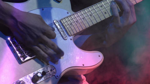 Guitarist on Stage HD Footage