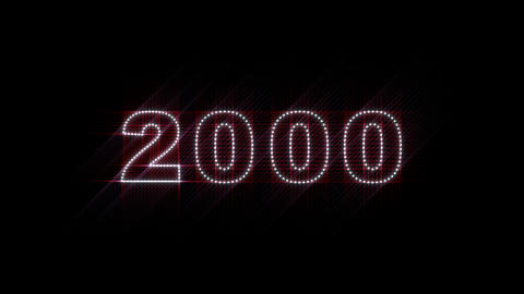 2000 2014 LEDS Count 02 Stock Video Footage