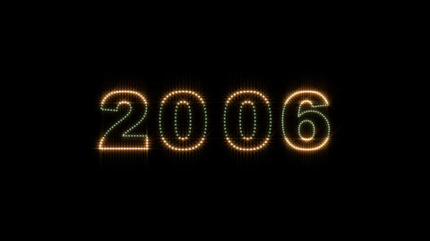 2000 2014 LEDS Count 02 stock footage