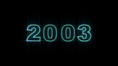2000 2014 LEDS Count 03 Stock Video Footage