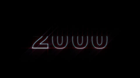 2000 2014 LEDS Count 01 Stock Video Footage