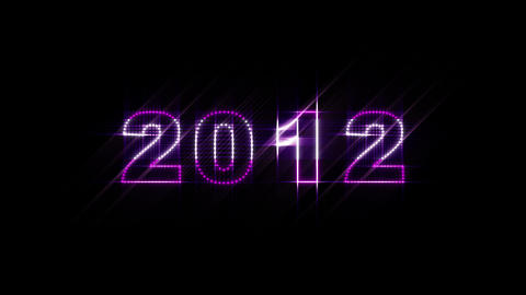 2000 2014 LEDS Count 01 stock footage