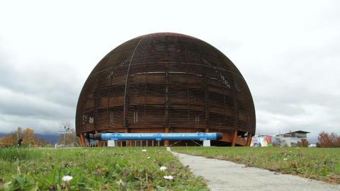 CERN in Geneva Stock Video Footage