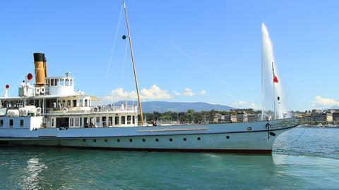 Geneva boat Stock Video Footage