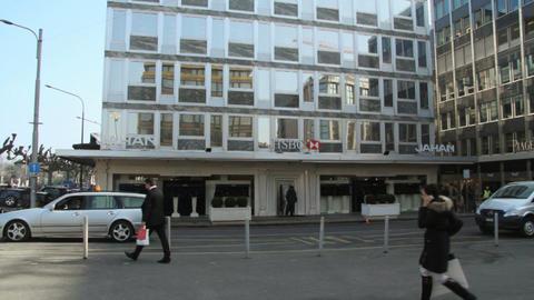 HSBC - Geneva Stock Video Footage
