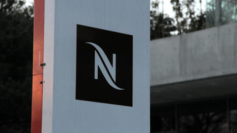 Nespresso in Lausanne Stock Video Footage