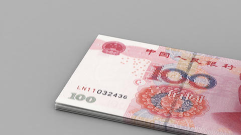 Counting Yuan Stock Video Footage