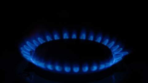 Burning Flame On The Gas Stove stock footage