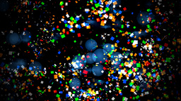 Confetti on a background of lights and flares Stock Video Footage