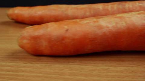 Onions and carrots dolly shot Stock Video Footage