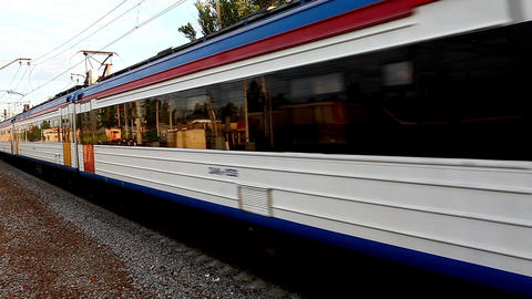 Electric Train Stock Video Footage