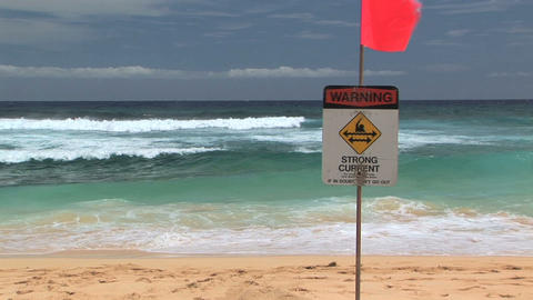Warning Strong Current Stock Video Footage
