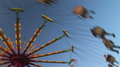 Amusement park ride Stock Video Footage