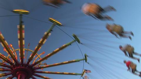 Amusement park ride Stock Video Footage