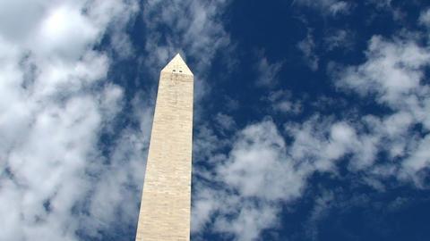 Washington Monument, time lapse Stock Video Footage